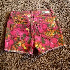 Justice Bottoms - Justice premium pink floral girls shorts